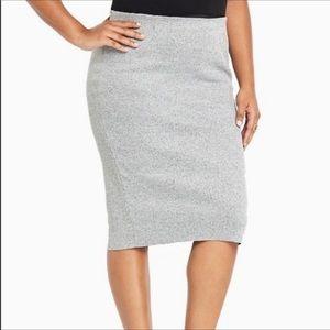 Torrid grey rib pencil skirt